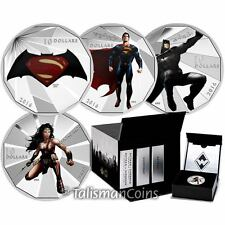 Canada 2016 Batman v Superman Dawn of Justice $10 Silver 4 Coin Set in Case Box