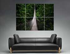 Pont forêt Bridge Forest  Landscape Nature Wall Art Poster A0 Large print