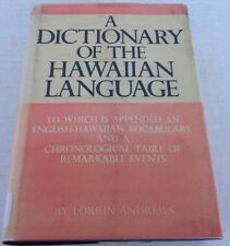 A Dictionary of the Hawaiian Language by Lorrin Andrews (1973, Hardcover)