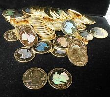 2009 DISTRICT OF COLUMBIA GOLD US TERRITORIES QUARTERS W/ HOLOGRAM~100 PIECES