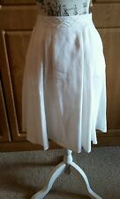 Lovely Knee Length Fully Lined White Linen Skirt by Per Una@M&S Size 12 BNWT-£35
