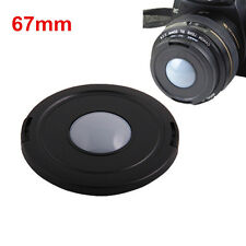 67mm White Balance Center Pinch Lens Cap for Canon Nikon Sony Pentax Olympus