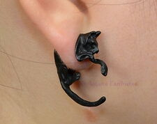 1 x BLACK CAT EARRING  Wicca Witch Pagan Goth Punk EAR STUD