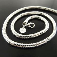 FSA179 GENUINE 925 STERLING SILVER SF SOLID SNAKE LINK PENDANT NECKLACE CHAIN