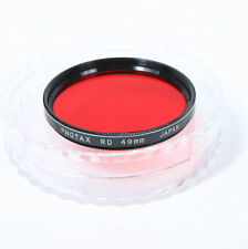 Photax red, filter; 49mm. Made in Japan (A054)
