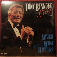 TONY BENNETT Live Watch What Happens Laser Disc (Sony Music ) New