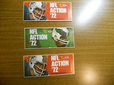 Sunoco NFL Action Stamps 1972 BRAND NEW UNOPENED LOT OF 3 ...27 STAMPS PER LOT