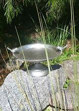 27cm Wide Vintage Style Metal Bird Feeder Bird Bath on Stand