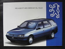 Peugeot 405 Break GL/GLD - Prospekt Brochure 07.1993