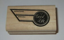 It's A Good Life Rubber Stamp Departure Arrival Travel Stampin' Up! Flight Wing