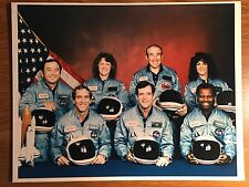 Official NASA Photograph Crew Space Shuttle STS Mission 51-L Challenger 01-28-86