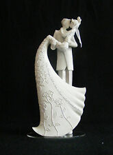 White Wedding Cake Topper- The Kiss by Gina Freehill- Romantic Style from Roman