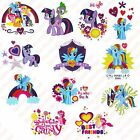 12x Girls Pony Designs - DIY Iron On Glitter T-Shirt Heat Transfer - New