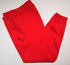 Polo Ralph Lauren fleece sweatpants athletic size medium new with tags color red