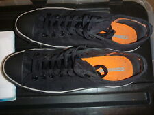 CONVERSE ALLSTARS SIZE UK 9 TRAINERS BOXED HARDLY USED COND BLACK ORANGE OX