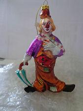 """""""Zirkusorchester Clown orange""""  Glas Geschenk Christbaumschmuck Gutschein"""