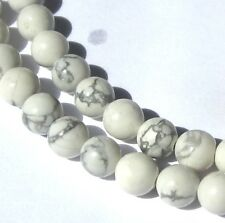 """16"""" STRAND OF SMALL BEAUTIFUL MARBLED WHITE STONE BEADS"""