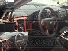 2014 2015 2016 CHEVROLET CHEVY SILVERADO LS LT INTERIOR WOOD DASH TRIM KIT SET