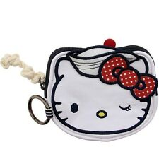 Hello Kitty Nautical Coin Bag (white / red)