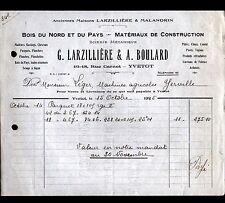 """YVETOT (76) SCIERIE """"LARZILLIERE & MALANDRIN / BOULARD Succ"""" en 1925"""