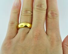 15.00 GRAMS 24K 9999 YELLOW GOLD bullion BAND RING HANDMADE  in USA 6mm size 10