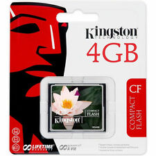 KINGSTON COMPACT FLASH 4GB CARD Extremely Reliable CF For digital cameras PDAs