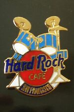 HRC Hard Rock Cafe San Francisco Blue Drum Set Red Logo