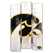 "IOWA HAWKEYES FENCE WOOD SIGN 11""X17'' BRAND NEW FREE SHIPPING WINCRAFT"