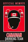 POSTER - COMICAL: CANADIAN DRINKING TEAM - FREE SHIPPING ! #9059 RAP14 B