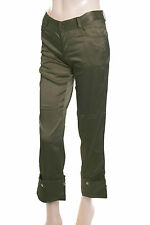 New Ladies Satin Trousers Green Size 6 (36)