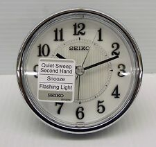 "SEIKO - THE JOURDAN ""GET UP AND GLOW""- QUIET SWEEP ALARM CLOCK QHE115KLH"