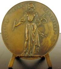 Médaille Ecole de peinture de Bruxelles H Moreau Grisy-Suisnes A de TOMBAY medal