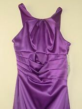 J TAYLOR:Women's Purple, Formal Dress (12641M) size 4. Knee-length Halter style