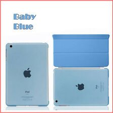 Magnetic Smart Cover+Crystal Clear Back Cover Case for Apple iPad mini 1 2 3 4