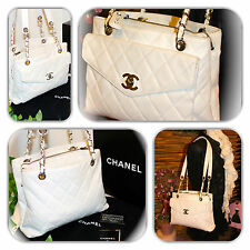 ALLURING-CHANEL CLASSIC CAVIAR LEATHER GRAND LARGE SHOPPER PURSE/TOTE/HANDBAG!