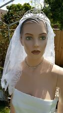 DESIGNER WEDDING BRIDAL LARGE MOVING CLEAR CRYSTAL TIARA COMB HEAD BAND £99
