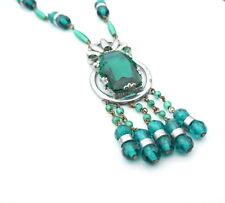 Necklace Green Vintage Czech Art Deco Necklace