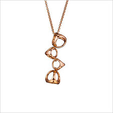 """Di Modolo Women's """"Icona"""" Sterling Silver Necklace plated in 18k Rose Gold"""