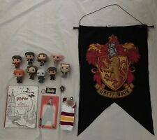 Harry Potter Mixed Lot Of 15 Pieces Funko Pop Flag Keychain Plus More