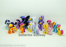 New 12 pcs My Little Pony Friendship is Magic Action Figures Cake Toppers  4~6cm
