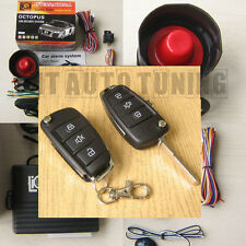 Car Alarm Security System + Remote Central Locking Kit VW Golf mk4 mk5 Polo FOBs