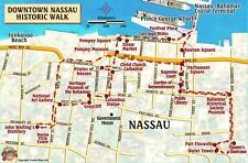 Nassau Historic Walking Tour & New Providence Island Bahamas Maps Laminated Card