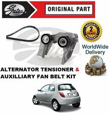 FOR FORD KA 1.3i 1.6i 1996-2008 AIR CON ALTERNATOR FAN TENSIONER AND BELT KIT
