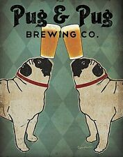 DOG ART PRINT Pug and Pug Brewing Co. Ryan Fowler