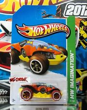 Hot Wheels 2013 #67 Swamp Buggy aka TEKU ORANGE,BROWN OFF ROAD TIRES,VERY COOL!!