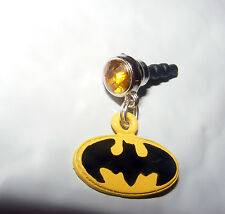 Batman phone charm plug anti-dust 3.5mm iphone 5s 4s smart phone Android & more