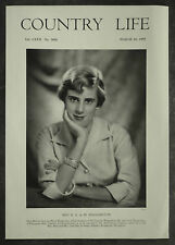 Belinda Ann de Marie Haggerston Gadsden Ellingham Hall 1955 1 Page Photo Article
