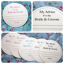 100 discos de novia y el novio asesoramiento Tarjetas De Boda Vintage personalizado en el libro de visitas