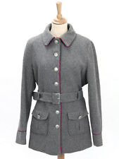Ness Womens Grey Wool Mix Belted Coat Size 16