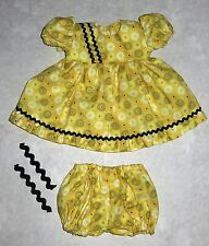 """Handmade Doll Clothes for 18"""" - 20"""" Baby Dolls - """"Dizzy Dots"""" Flower Dress Set"""